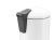 Tret-Abfallsammler, Hailo ProfiLine Solid Design L, tiefschwarz, 24 Liter, Inneneimer: verzinkt Bild 6
