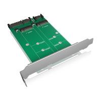 Titelbild - Konverter-Board SATA zu 2x M.2 SATA mit PCI Bracket zur Befestigung IB-CVB512-S