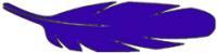 Kalligraphie - Tinte dunkelblau