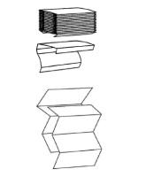 CWS Faltpapier Typ 274 - Recycling, natur, 1-lagig