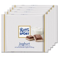 Ritter Sport Joghurt, Schokolade, 5 Tafeln