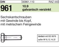 DIN961 M8x1x20