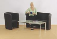 1-Sitzer mit Kunststoffgleitern SitzHxBXT 455x480x490 mm