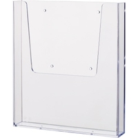 helit Prospekthalter the help wall 23,2 x 25 x 4,1 cm (B x H x T) DIN A4 Polystyrol glasklar 1 Fach