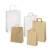 Detailbild - Weiße und braune Papier-Tragetaschen PPL32KR - B:320 mm / H:410 mm