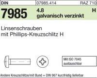 Linsenschrauben M8x20-H