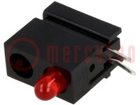 LED; im Gehäuse; rot; 3mm; Anz.Dioden:1; 20mA; Linse: diffus, rot