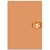 5 ETOILES Bloc agrafé en-tête 160 pges non perforées 80g ligné+marge format 21x31,8(A4+)Couverture orange