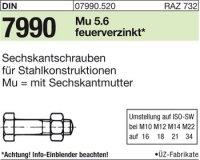 DIN7990 M16x80