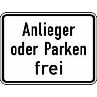 Modellbeispiel: VZ Nr. 1020-31, (Anlieger oder Parken frei)