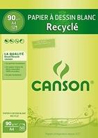 CANSON BLOC PAPIER À DESSIN A4 21 X 29,7 CM 50 FEUILLES BLANC 1093
