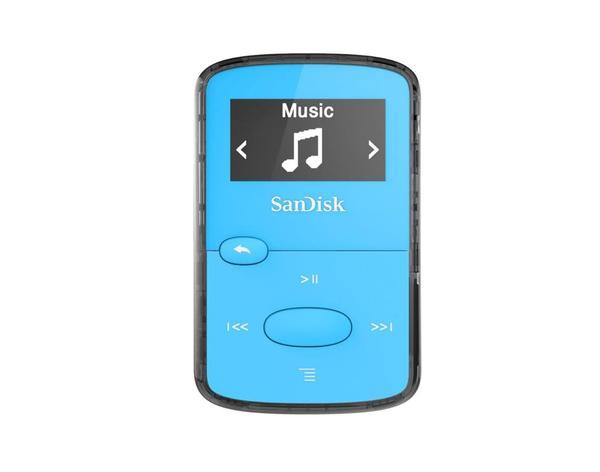 Sandisk CLip Jam MP3 Player 8GB, microSDHC, Radio FM, Blue - SDMX26-008G-G46B