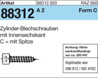 Zyl.-Blechschrauben C6,3x38