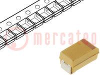 Kondensator: Tantal-Polymer; 330uF; 6,3VDC; Geh: D; 2917; ESR:45mΩ