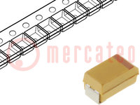 Kondensator: Tantal-Polymer; 220uF; 10VDC; Geh: D; 2917; ESR:18mΩ
