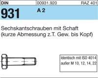 DIN931 M14x170