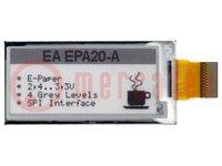 """Kijelző: e-papír; 2""""; 172x72; Ablakméret:49,56x22,16mm; 3,3VDC"""
