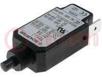 Interruptor magnetotérmico; Unom:240VCA; 48VCC; 3A; Orif: Ø9,6mm