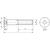 Skizze zu ISO10642 8.8 M12x160 verzinkt Senkschraube mit Innensechskant (~DIN7991)