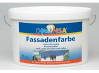 Dimensa Dispersions Fassadenfarbe weiß 2,5l
