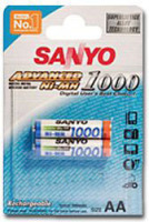 Sanyo Advanced Akku NiMH AAA 1000 mAh HR-4U-2BP Blister2