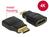 Adapter High Speed HDMI mit Ethernet - HDMI Mini-C Stecker an HDMI-A Buchse 4K schwarz, Delock® [65665]
