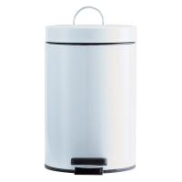 Hygienbehälter 3 L mit Kunststoffinneneimer Ø 17 x H 25,3 cm Stahl weiss