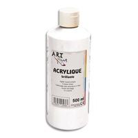 ART PLUS Acrylique brillante 500ml Blanc