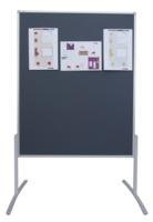Moderationstafel PRO, 120 x 150 cm, grau/Filz, weiß/lackierte Schreiboberfläche