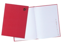 5 Star Office Manuscript Book Casebound Ruled and Indexed 192 Pages A4 [Pack 5]