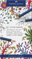Aquarellstift ART GRIP AQUARELL, 12 Farben sortiert im Metalletui