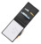Normalansicht - Ecobra Blockmappe Serie EXACT DIN A5, Kunstleder, schwarz marmoriert