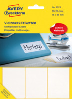 Vielzweck-Etiketten, weiss, 76x39mm, 192 Etiketten