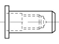 Artikeldetailsicht Blindniet-Muttern, rund, geschl.für luft-u.wasserd ART 88480 St.Zn Flako M 8 / 0,5 - 3,5