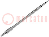 Tip; chisel, elongated; 2x0.8mm; longlife