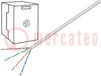Leitungen; U/UTP; 5e; Draht; CCA; 4x2x24AWG; PVC; grau; 305m