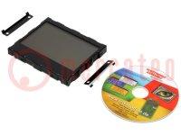 Kijelző: LCD; grafikus; FSTN Positive; 160x104; fekete; LED; PIN:40