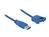 Kabel USB 3.0 Typ-A Stecker an USB 3.0 Typ-A Buchse zum Einbau 1m, Delock® [85112]