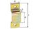 Schlaufe, galvanisch gelb verzinkt, lichte-LxH 12x6 mm, Gesamt-LxB 30x10 mm