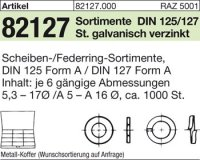 Sortimente Scheiben DIN125/127