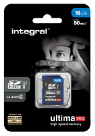 GEHEUGENKAART INTEGRAL SDHC 16GB ULTIMAPRO CL10