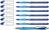 Kugelschreiber Slider Basic, XB, blau, 6er Etui (+ 1x Rave blau gratis)