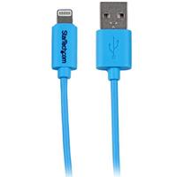 StarTech.com 1 m blauwe Apple 8-polige Lightning-connector-naar-USB-kabel voor iPhone / iPod / iPad