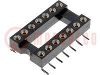 Ondersteunen: DIP; PIN:14; 7,62mm; Cont: koperlegering; SMT; 0÷85°C