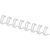Draadrug 12mm, 34rings, A4, wit, 100 stuks
