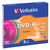 DVD-R VERBATIM 4.7GB 16X COLOUR 5PK SLIMLINE JC