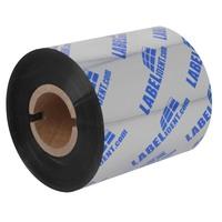 """Thermotransfer Farbband Wachs Labelident Eco, Flathead, Etikettendrucker 4"""" Druckbreite, schwarz, 110 mm Br., 300 m Länge, Kern: 1"""", Außenwicklung, Einzelrolle"""