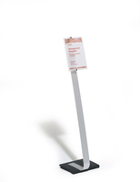Durable 481823 sign holder/information stand A4 Acrylic Silver