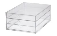 Acrylic drawer organiser A4, 3 drawers