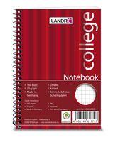Landré Notebook College A6, 160 Blatt, 70 g/m², kariert